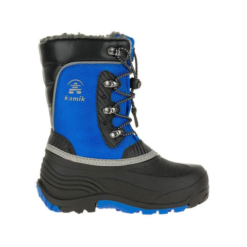 KAMIK BOYS LUKE WINTER BOOT BLACK/STRONG BLUE