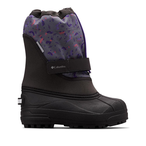 COLUMBIA BOYS POWDERBUG PLUS II WINTER BOOT SHARK/EMPEROR TIGHTENED