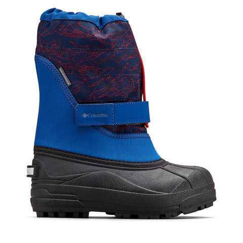 COLUMBIA BOYS POWDERBUG PLUS II WINTER BOOT ROYAL/ROCKET TIGHTENED