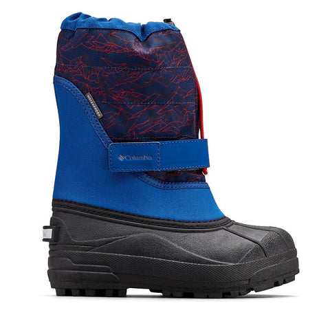 COLUMBIA BOYS PS POWDERBUG PLUS II WINTER BOOT ROYAL/ROCKET TIGHTENED