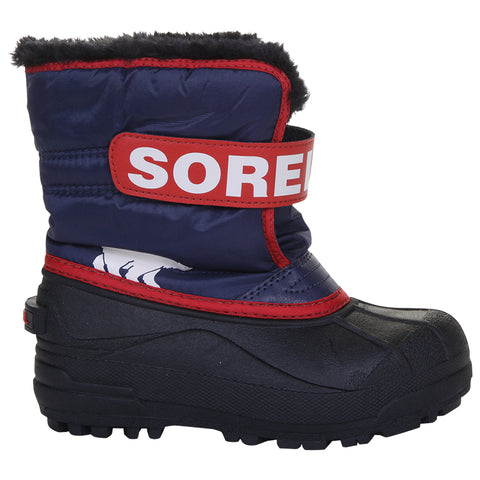 SOREL BOYS SNOW COMMANDER -32C WATERPROOF WINTER BOOT NOCTURNAL/RED
