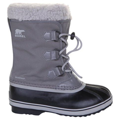 SOREL BOYS YOOT PAC NYLON -40C WATERPROOF WINTER BOOT QUARRY/DOVE