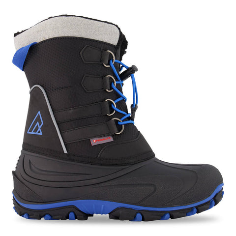 RIPZONE BOYS SLALOM WATERPROOF WINTER BOOT BLACK/BLUE