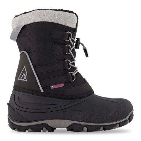 RIPZONE BOYS SLALOM II WATERPROOF WINTER BOOT BLACK/GREY