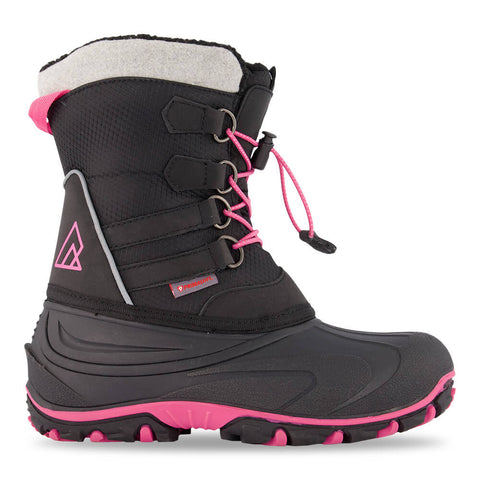 RIPZONE GIRLS SLALOM WATERPROOF WINTER BOOT BLACK/PINK