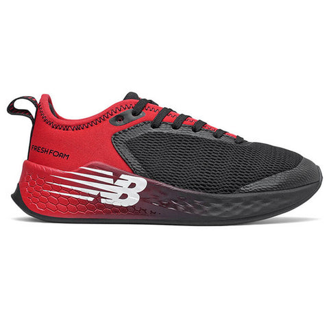 NEW BALANCE BOYS GRADE SCHOOL FRESH FOAM FAST V2 KIDS SHOE BLACK/RED