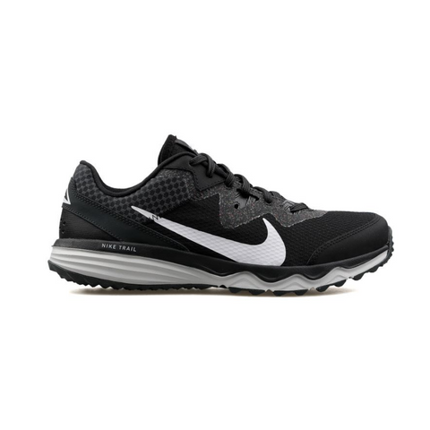 NIKE MEN'S JUNIPER TRAIL RUNNING SHOE BLACK/WHITE/GREY/FOG