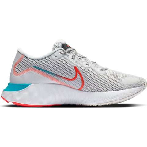 NIKE MEN'S RENEW RUN RUNNING SHOE WHITE/FLASH/ORACLE AQUA
