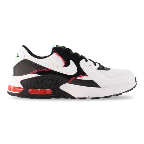 NIKE MEN'S AIR MAX EXCEE LIFESTYLE SHOE WHITE/WHITE/BLACK/CRIMSON