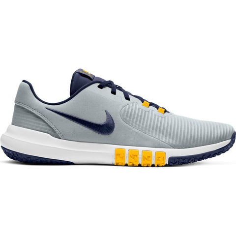 NIKE MEN'S FLEX CONTROL 4 TRAINING SHOE PLATINUM/NAVY/LASER ORANGE