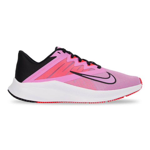 NIKE WOMEN'S QUEST 3 RUNNING SHOE BEYOND PINK/BLACK/CRIMSON