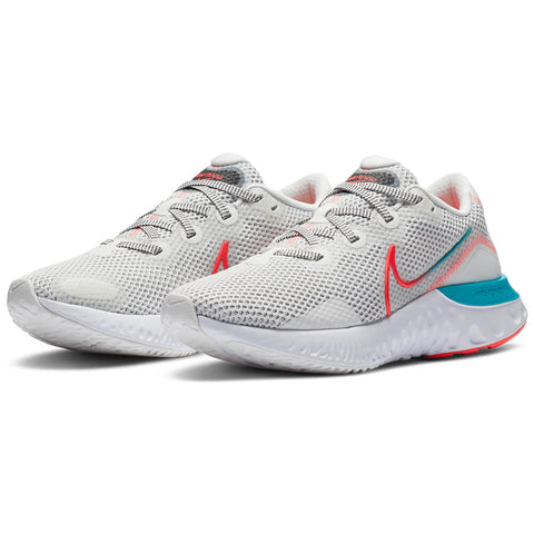 NIKE WOMEN'S RENEW RUN RUNNING SHOE SUMMIT WHITE/CRIMSON/AQUA