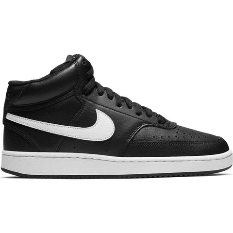 NIKE WOMEN'S COURT VISION MID LIFESTYLE SHOE BLACK/WHITE