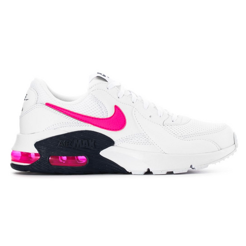 NIKE WOMEN'S AIR MAX EXCEE LIFESTYLE SHOE WHITE/PINK BLAST/MIDNIGHT NAVY