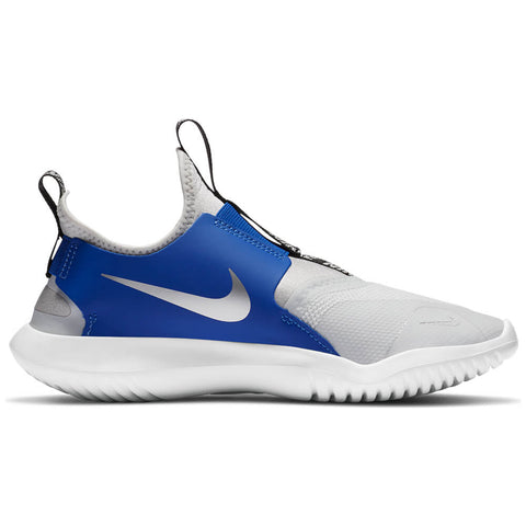 NIKE BOYS GRADE SCHOOL FLEX RUNNER KIDS SHOE PHOTON DUST/SILVER/ROYAL