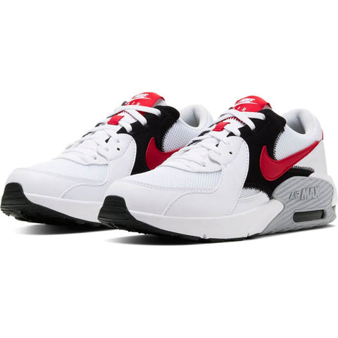 NIKE BOYS GRADE SCHOOL AIR MAX EXCEE KIDS SHOE WHITE/RED/BLACK/WOLF GREY