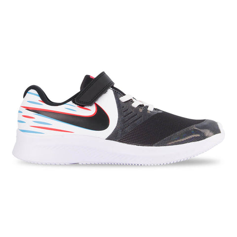 NIKE GIRLS PRE-SCHOOL STAR RUNNER 2 KIDS SHOE LIGHT WHITE/BLACK/BLUE/CRIMSON
