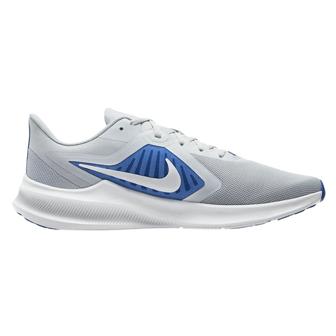 NIKE MEN'S DOWNSHIFTER 10 RUNNING SHOE PURE PLATINUM/WHITE/HYPER ROYAL