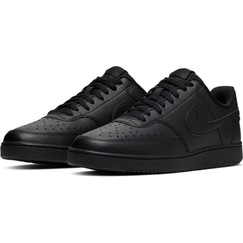 NIKE MEN'S COURT VISION LOW LIFESTYLE SHOE BLACK/BLACK/BLACK