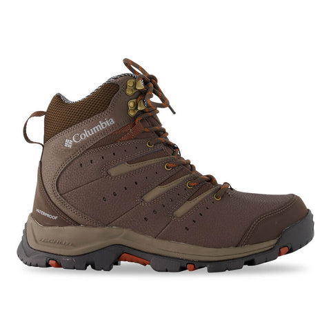 COLUMBIA MEN'S GUNNISON II OMNI-HEAT WATERPROOF WINTER BOOT CORDOVAN/DARK ADOBE