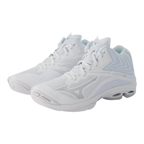 MIZUNO WOMEN'S WAVE LIGHTNING Z6 MID INDOOR COURT SHOE WHITE