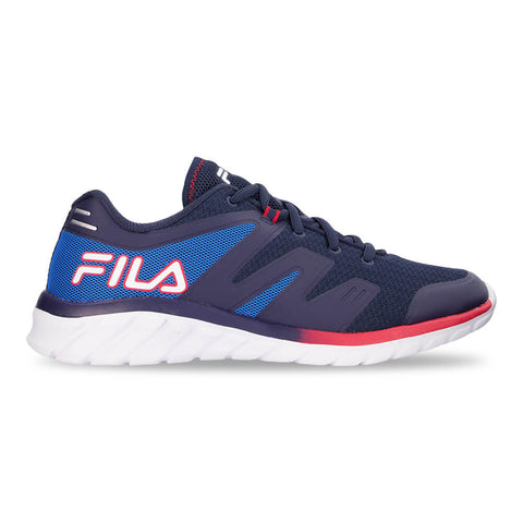 FILA BOYS GRADE SCHOOL TEMPERA 4 KIDS SHOE NAVY/BLUE/RED
