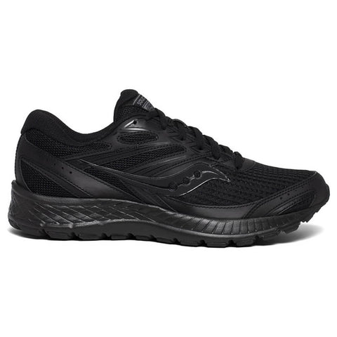SAUCONY MEN'S COHESION 13 RUNNING SHOE BLACK/BLACK