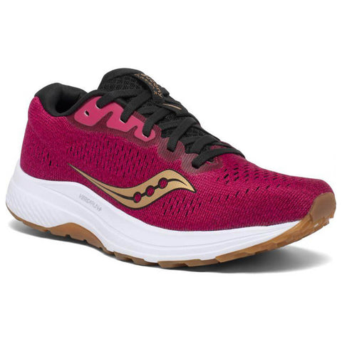 SAUCONY WOMEN'S CLARION 2 RUNNING SHOE BERRY/GOLD