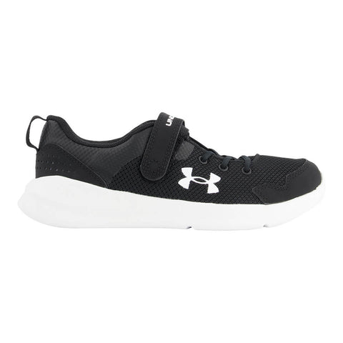 UNDER ARMOUR BOYS PRE-SCHOOL ESSENTIAL KIDS SHOE BLACK/WHITE/WHITE