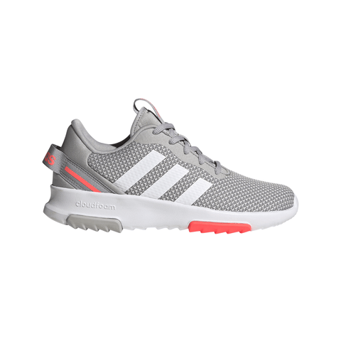ADIDAS GIRLS GRADE SCHOOL RACER TR 2.0 KIDS SHOE GLORY GREY/WHITE/GREY ONE
