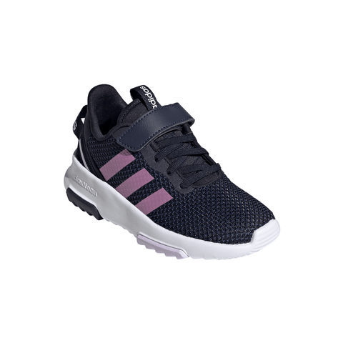 ADIDAS GIRLS PRE-SCHOOL RACER TR 2.0 C KIDS SHOE LEGEND INK/CHERRY METALLIC/PURPLE TINT