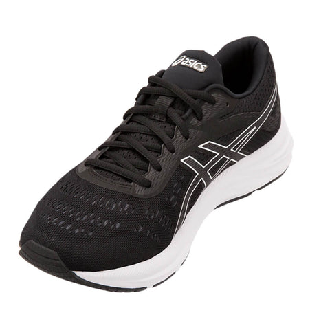 ASICS MEN'S GEL EXCITE 6 WIDTH 4E RUNNING SHOE BLACK/WHITE