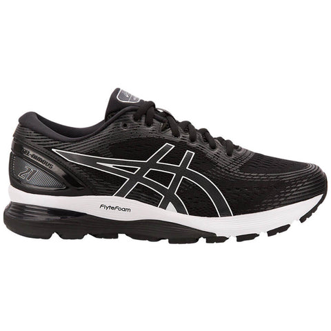 ASICS MEN'S GEL NIMBUS 21 WIDTH 4E RUNNING SHOE BLACK/DARK GREY