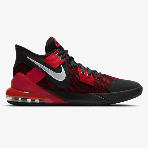 NIKE MEN'S AIR MAX IMPACT 2 BASKETBALL SHOE BLACK/METALLIC SILVER/GYM RED