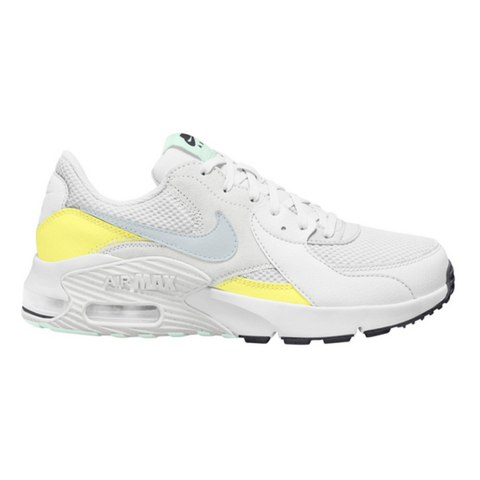 NIKE WOMEN'S AIR MAX EXCEE LIFESTYLE SHOE WHITE/METALLIC PLATINUM/ZITRON