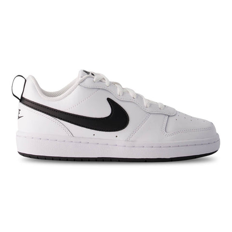NIKE BOYS GRADE SCHOOL COURT BOROUGH LOW 2 KIDS SHOE WHITE/BLACK