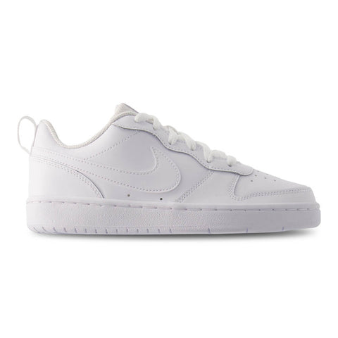 NIKE BOYS GRADE SCHOOL COURT BOROUGH LOW 2 KIDS SHOE WHITE/WHITE/WHITE