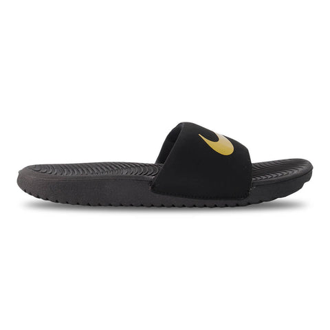 NIKE GIRLS KAWA SLIDE BLACK/METALLIC GOLD