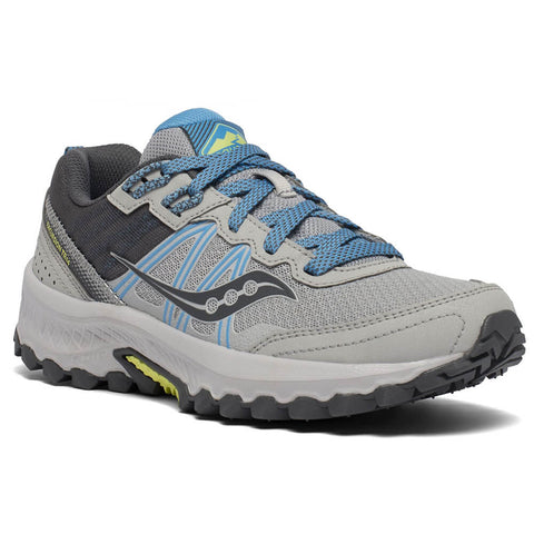 SAUCONY WOMEN'S EXCURSION TR14 RUNNING SHOE GREY/BLUE/GLADE