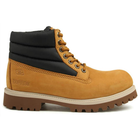 SKECHERS MEN'S SERGEANTS VERNO - LEATHER LACE UP WATERPROOF LIFESTYLE BOOT WHEAT