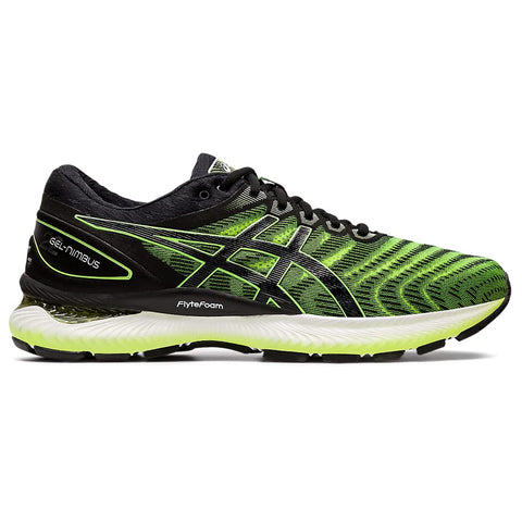 ASICS MEN'S GEL NIMBUS 22 RUNNING SHOE SAFETY YELLOW/BLACK
