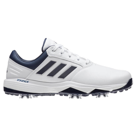 ADIDAS MEN'S 360 BOUNCE II GOLF CLEAT WHITE/NAVY/SILVER