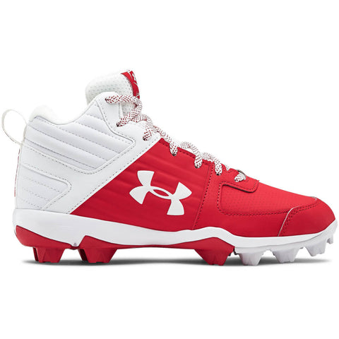 UNDER ARMOUR BOYS LEADOFF MID RM BASEBALL CLEAT RED