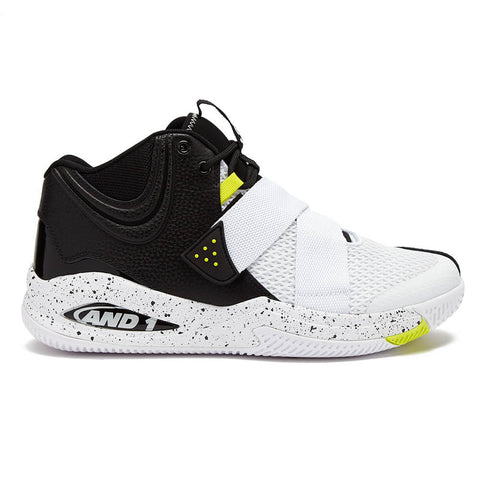 AND1 MEN'S GAMMA 2.0 BASKETBALL SHOE WHITE/BLACK/YELLLOW