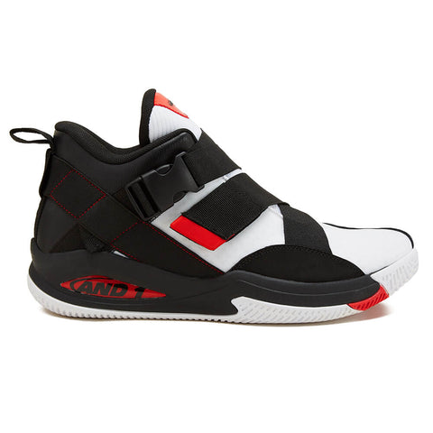 AND1 BOYS GRADE SCHOOL GAMMA KIDS SHOE BLACK/WHITE/RED