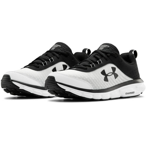 UNDER ARMOUR MEN'S CHARGED ASSERT 8 RUNNING SHOE WHITE/BLACK/BLACK