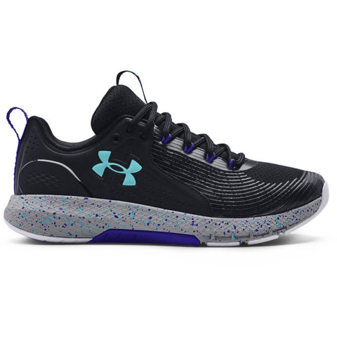 UNDER ARMOUR MEN'S CHARGED COMMIT TR 3 TRAINING SHOE BLACK/STEEL/COSMOS