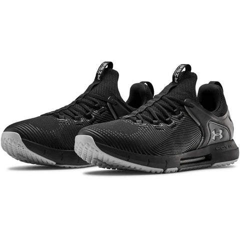 UNDER ARMOUR MEN'S HOVR RISE 2 TRAINING SHOE BLACK/BLACK/MOD GREY