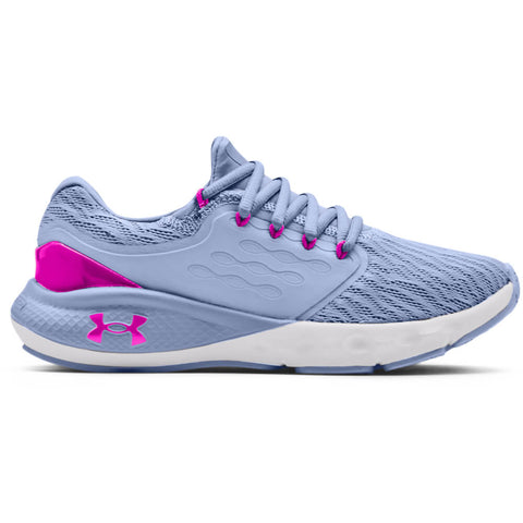 UNDER ARMOUR WOMEN'S CHARGED VANTAGE RUNNING SHOE BLUE/HALO GREY/PINK