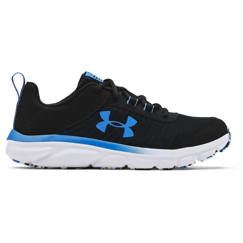 UNDER ARMOUR BOYS GRADE SCHOOL ASSERT 8 KIDS SHOE BLACK/WHITE/BLUE CIRCUIT